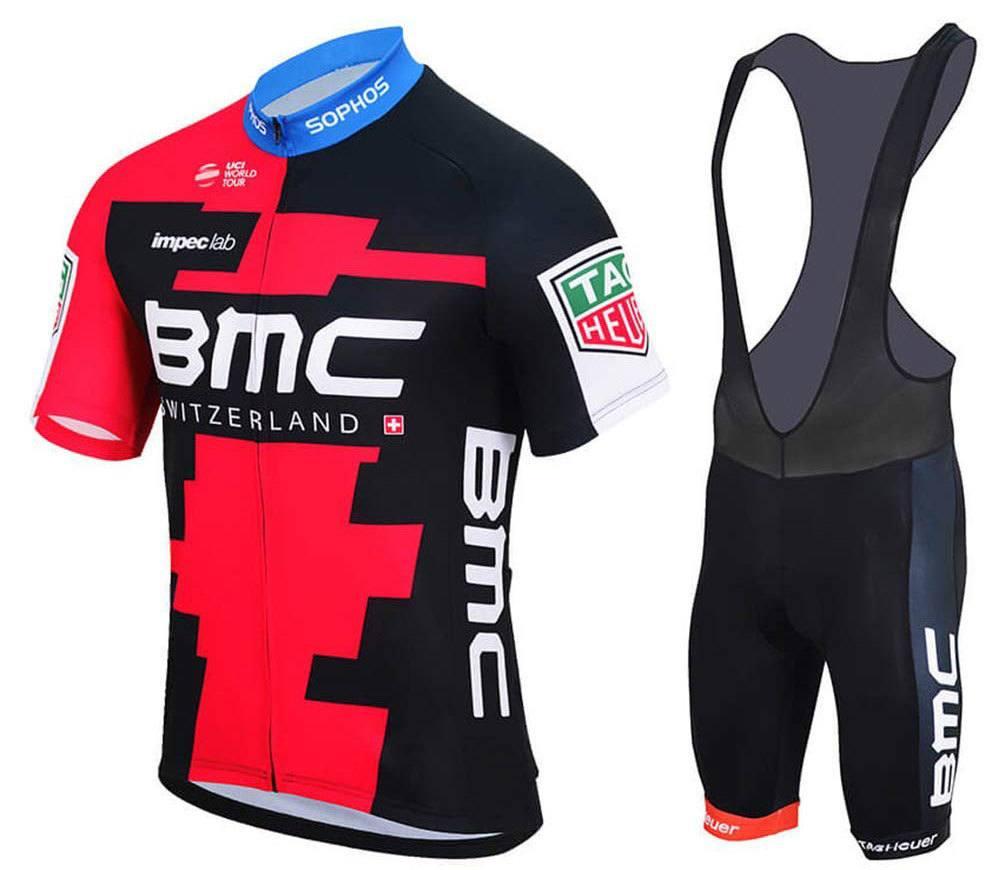 MTB Jersey Good Luck US Black MTB Short Sleeve Cycling Jersey and Shorts