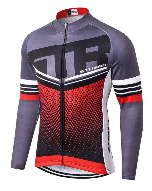 MTB Jersey MR Strgao Mens Cycling Winter Thermal Jacket Windproof Long Sleeves