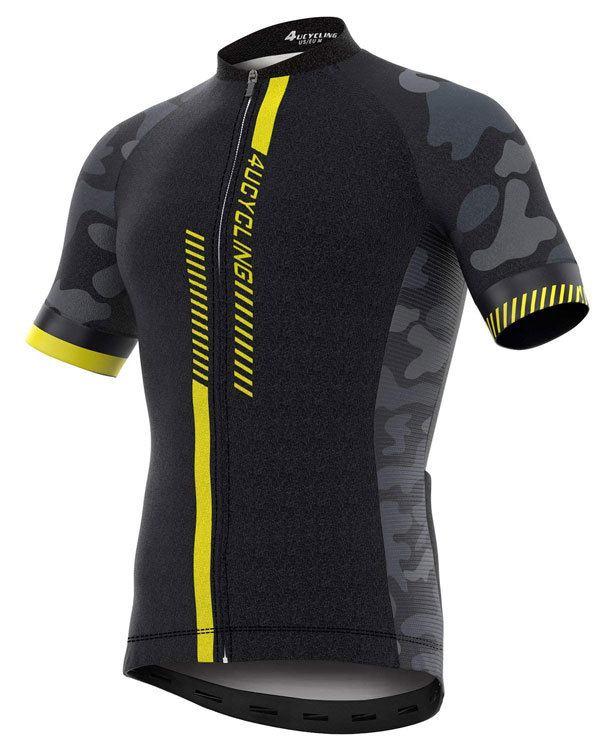 MTB Jersey Men's Short Sleeve Cycling Jersey Full Zip